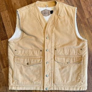 Vintage Woolrich Fleece Lined Vest
